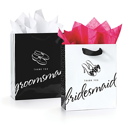 Thank You Gifts Wedding Attendants : Thank You Gift Bags for Wedding Attendants - Set of 5