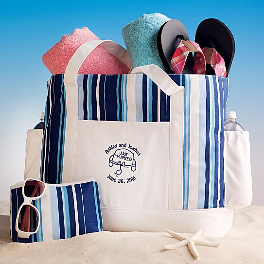 Just Married Beach Bag | Personalized Honeymoon Tote bag