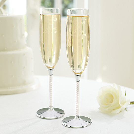 jubilee pearl wedding toasting flutes wedding flutes