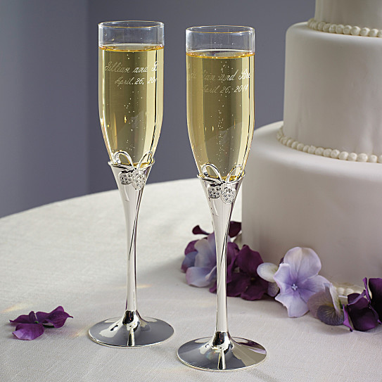 exclusively weddings lenox romance toasting flutes