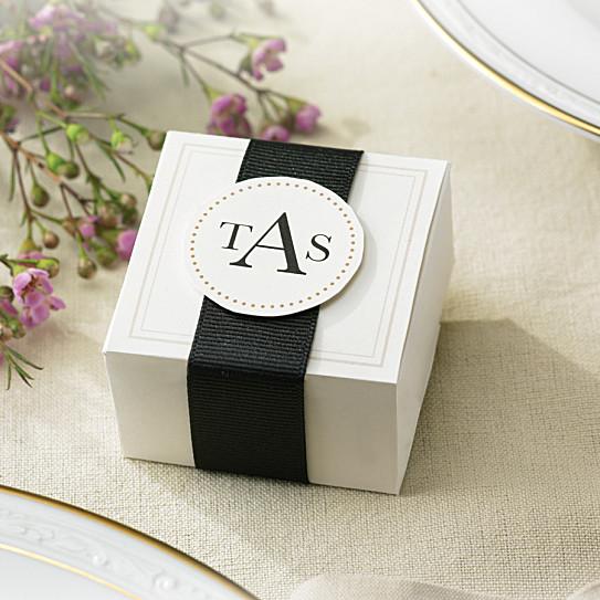 Elegant ivory wedding favor box kits wedding favors for Favor boxes for wedding