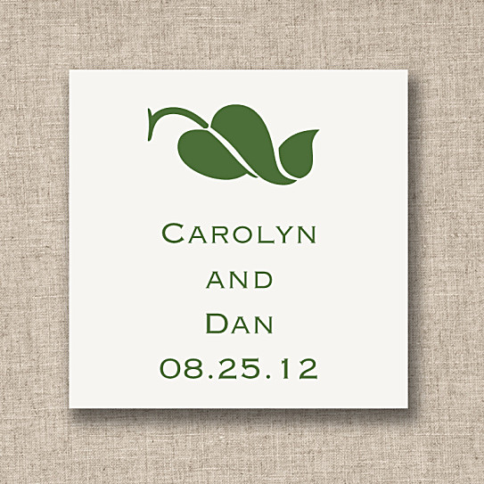 Wedding Favor Tags And Labels : Leaf of Love Favor Tags Wedding Favor Tags