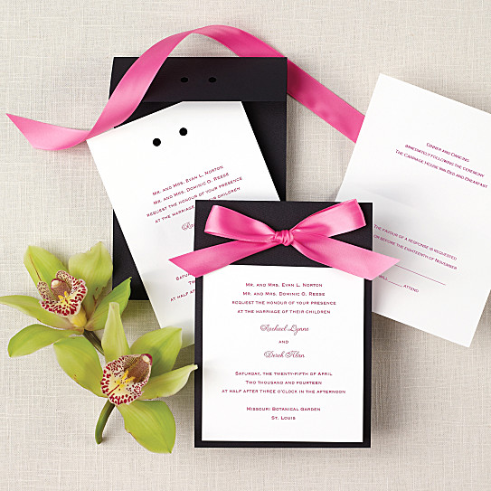 color duet wedding invitation all in one wedding invitations - All In One Wedding Invitations