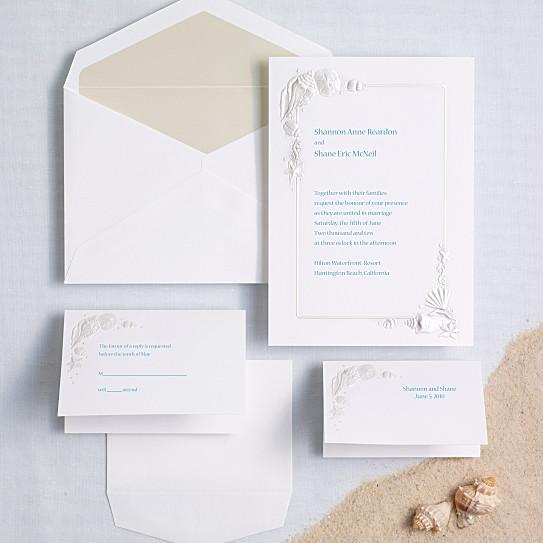 Sea Treasures Wedding Invitation Beach Wedding Invitations – Wedding Invites Beach
