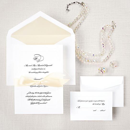 classic couture wedding invitation wedding invitations - Couture Wedding Invitations