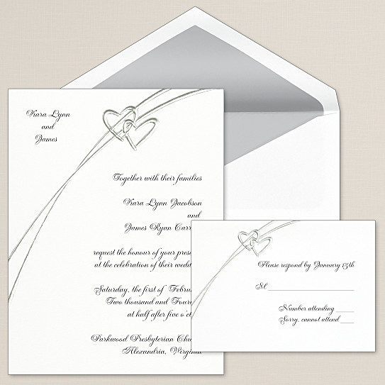soaring hearts wedding invitation - heart wedding invitations, Wedding invitations