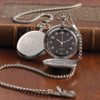 Engraved Silver-Plated Pocket Watch for Father of the Bride