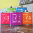 Custom Bridal Party Color Flasks