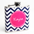 Personalized Chevron Flask