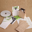 Personalized Wedding Favor Paper Bags with Labels