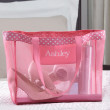 Personalized Pink Mesh Tote for Wedding Day Essentials