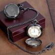 Gunmetal Pocket Watch for Groomsmen