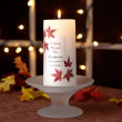 Autumn Leaves Wedding Memorial Candle