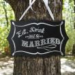 Vintage Chalkboard Sign for Wedding Reception