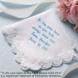 """To Dry Your Tears ..."" Scalloped Lace Hanky"