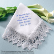 """To Dry Your Tears..."" Venise Lace Hanky"