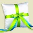 Custom 2-Ribbon Ring Pillow