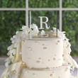 Modern Initial Acrylic Square Cake Top