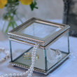 Engraved Square Glass Bridesmaid Keepsake Box