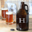 Personalized Amber Glass Beer Growler - 64 oz.