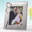 "Twin Hearts 5"" X 7"" Wedding Photo Frame"