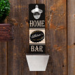 Wooden Wall Bottle Opener Premium Bar Design