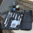 9-Piece Oversized BBQ Grill Tool Set With Case