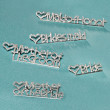 Rhinestone Wedding Party Pins