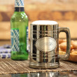 Personalized Gunmetal Tankard for Groomsmen