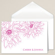 Contemporary Peony Thank You Note