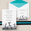 Butterfly Kisses Wedding Invitation in Bright White
