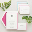 Simply Colorful Wedding Invitation