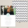 Stylish Chevron Wedding Invitation