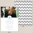 Stylish Chevron Wedding Invitation