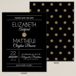Midnight Polka Dots Save the Date