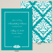 Bold Damask Save the Date