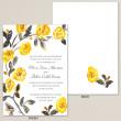 Watercolor Rose Trellis Wedding Invitation