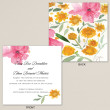 Tropical Garden Wedding Invitation