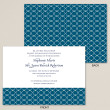 Blue and Green Trellis Wedding Invitation