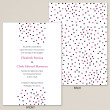 Contemporary Dots Wedding Invitation