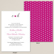 Pink Polka Dots Wedding Invitation