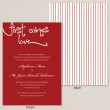 First Comes Love Wedding Invitation