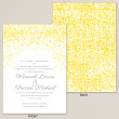 Glowing Lights Wedding Invitation