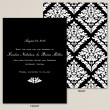 Deco Damask Save the Date Card