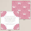 Pink Deco Wedding Invitation