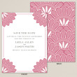 Pink Deco Save the Date Card