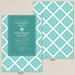 Geometric Affair Wedding Invitation