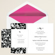 Decorative Damask Wedding Invitation
