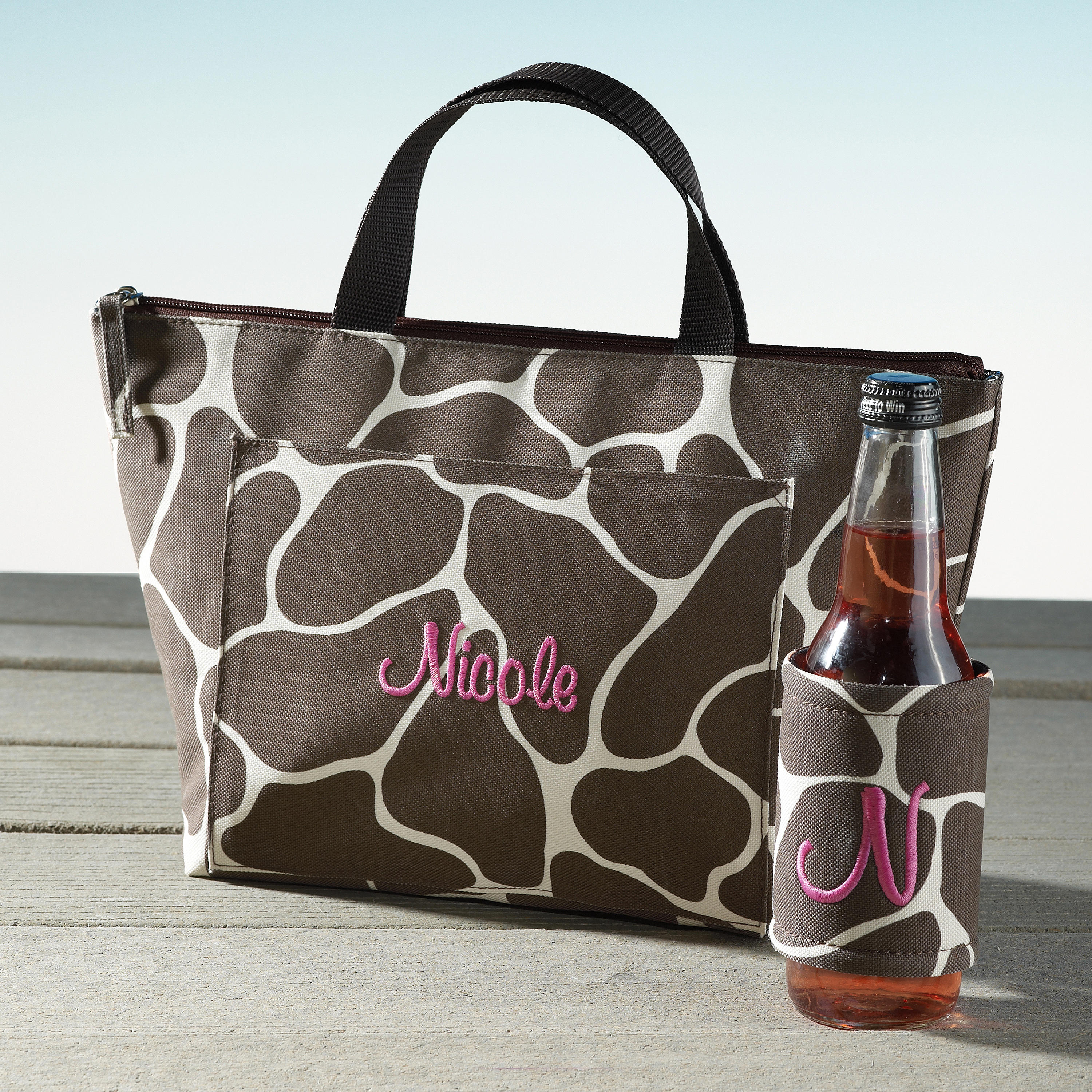 Playful Print Lunch Tote and Bottle Cover Set