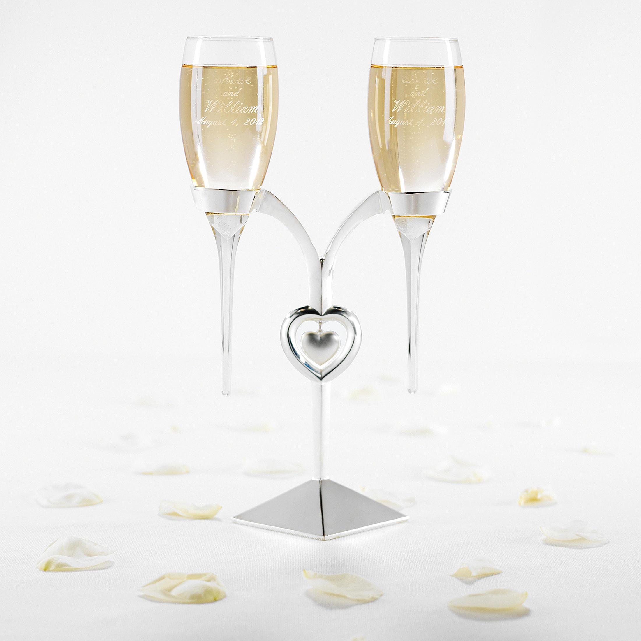 Elegant Wedding Flutes and Cake Server Set Photos Designs – Dievoon